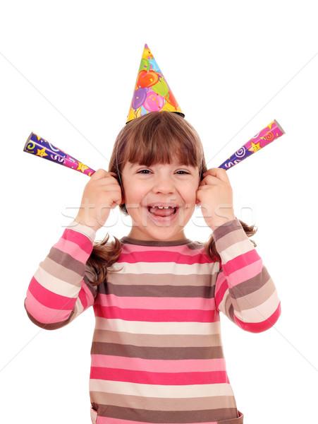 幸せ 女の子 帽子 誕生日パーティー パーティ 子供 ストックフォト © goce