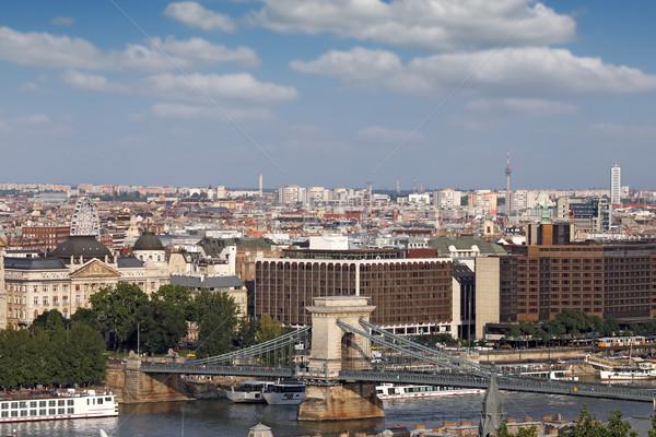 Chain bridge Budapest cityscape Hungary Stock photo © goce