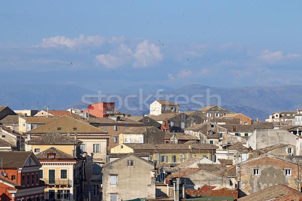 old buildings cityscape Corfu town Greece Stock photo © goce