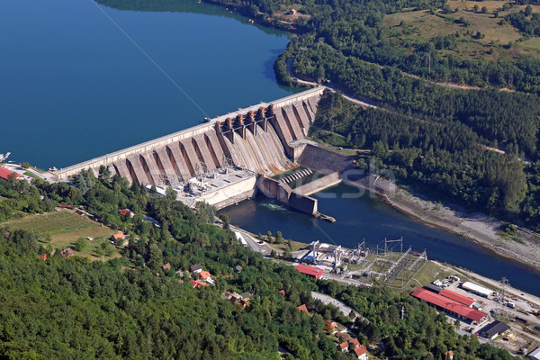 hydroelectric power plant on river industry zone Stock photo © goce