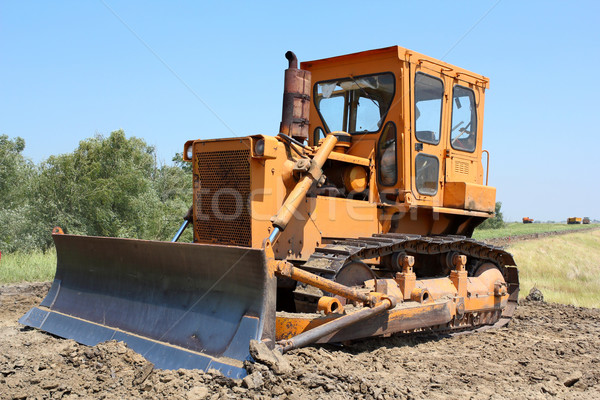 construction site with bulldozer Stock photo © goce