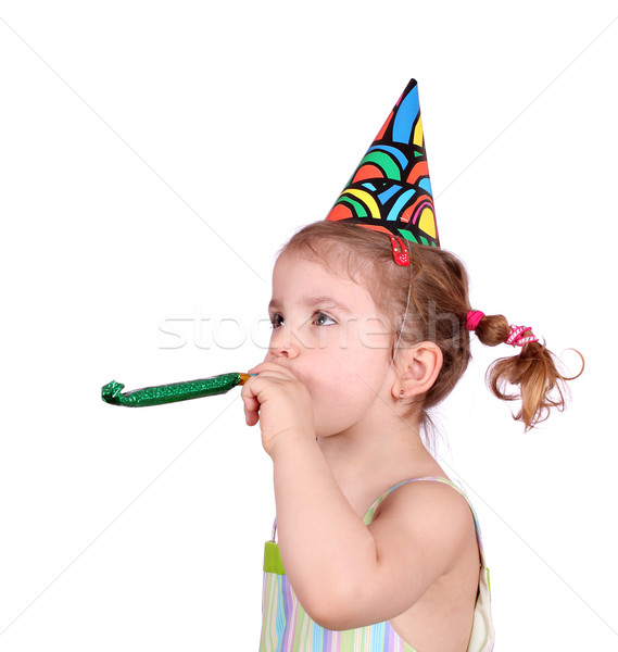 little girl birthday party on white Stock photo © goce