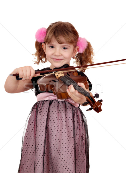 beautiful little girl play violin portrait Stock photo © goce