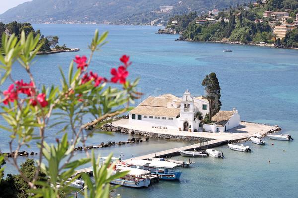 Monastero isola Grecia mare estate blu Foto d'archivio © goce