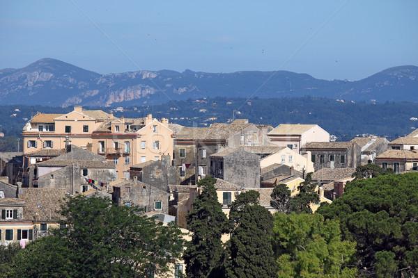 Vecchio edifici città Grecia albero città Foto d'archivio © goce
