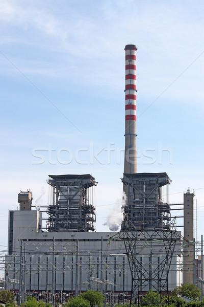 Energiecentrale industrie bouw rook fabriek Stockfoto © goce