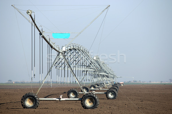 center pivot sprinkler system agriculture industry Stock photo © goce