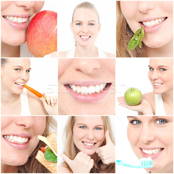 teeth, poster showing dental health for dentist surgery Stock photo © godfer