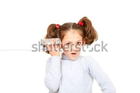 kid with money box savings Stock photo © godfer