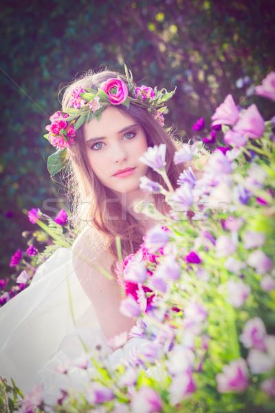自然の美 花 妖精 自然 春 モデル ストックフォト © godfer