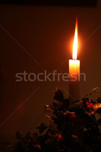 Noël vacances bougie décoration nuit Photo stock © godfer