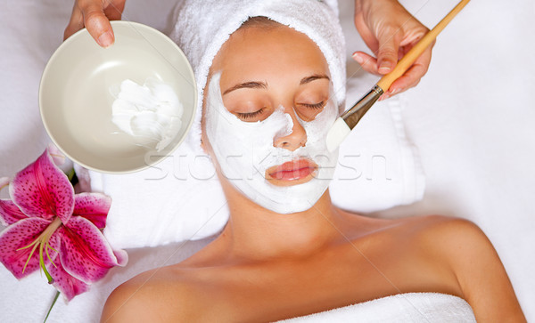 spa face mask Stock photo © godfer