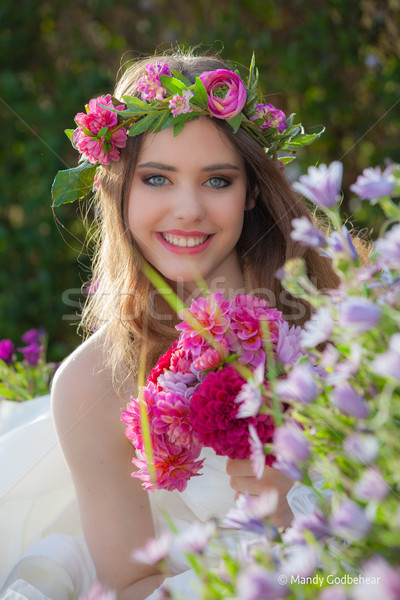 natural beauty summer young woman Stock photo © godfer
