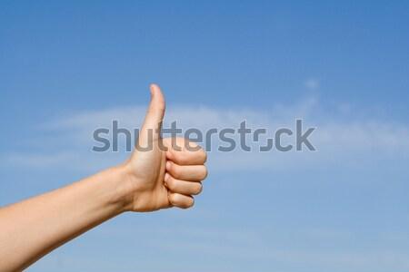Stockfoto: Hand · succes · winnend