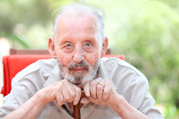 healthy happy old age senior man Stock photo © godfer