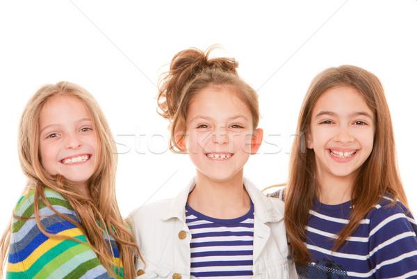 Enfants heureux sourires groupe peu enfants Photo stock © godfer