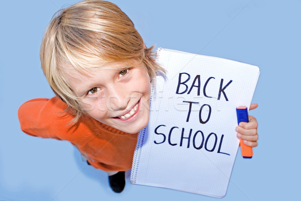 back to school, happy student Stock photo © godfer