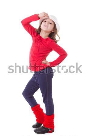 Moderno dançar criança criança menina crianças Foto stock © godfer
