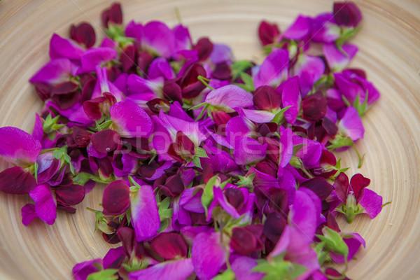 甘い エンドウ グルメ 料理 材料 花 ストックフォト © godfer