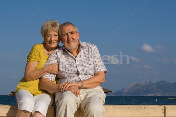 elderly retirees on vacation in mallorca Stock photo © godfer