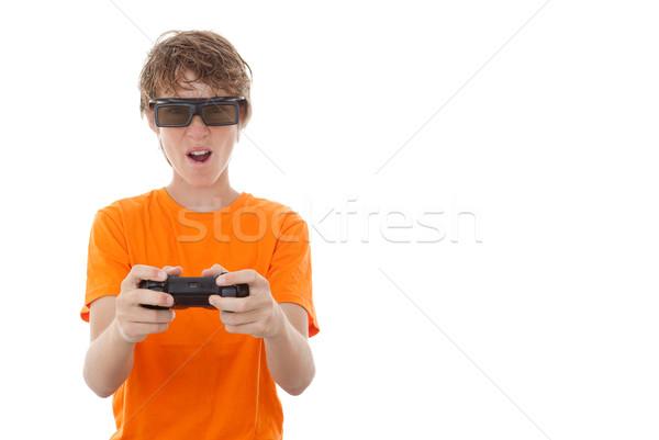 3d video gamer glasses Stock photo © godfer