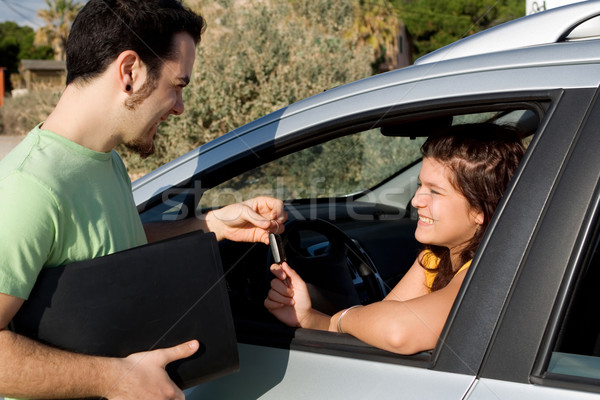 driving test or car hire or new vehicle sale Stock photo © godfer