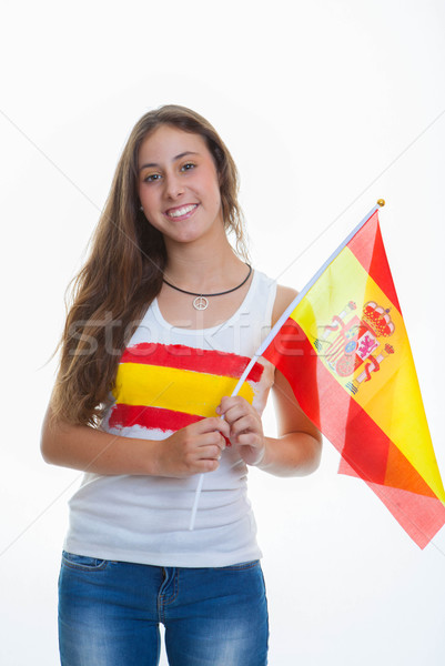 person with Spanish flag Stock photo © godfer