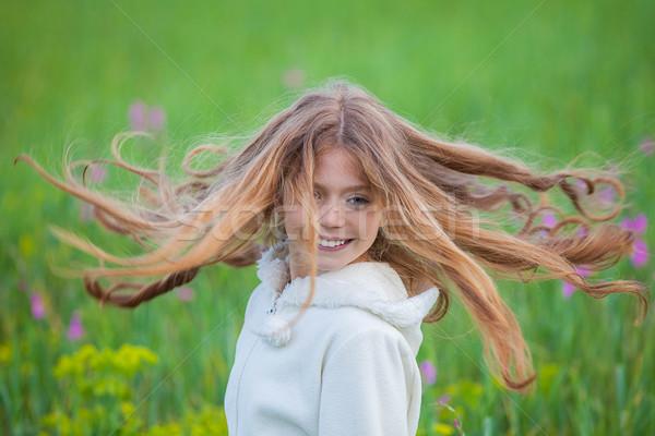 Verano primavera nino pelo largo largo fresa Foto stock © godfer