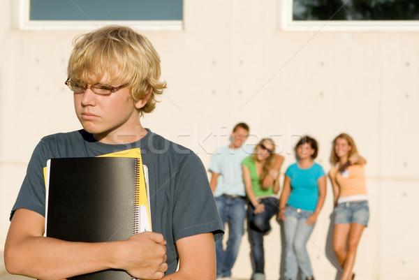 school bully, group bullying lonley kid Stock photo © godfer