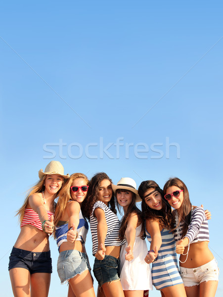 vacation teens Stock photo © godfer