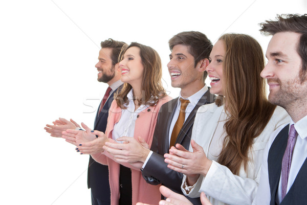 business team group applauding in meeting Stock photo © godfer