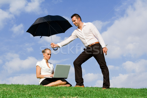 concept for business insurance protection Stock photo © godfer