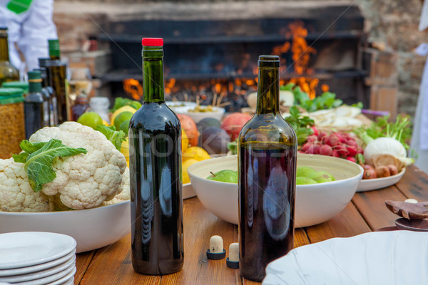 Mediterranean kitchen and cooking ingredients Stock photo © godfer