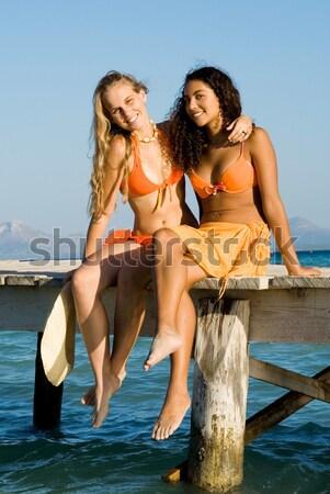 Amour majorque femmes mode enfants mer Photo stock © godfer