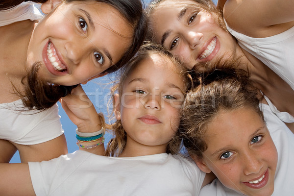 happy smiling youth group of kids Stock photo © godfer