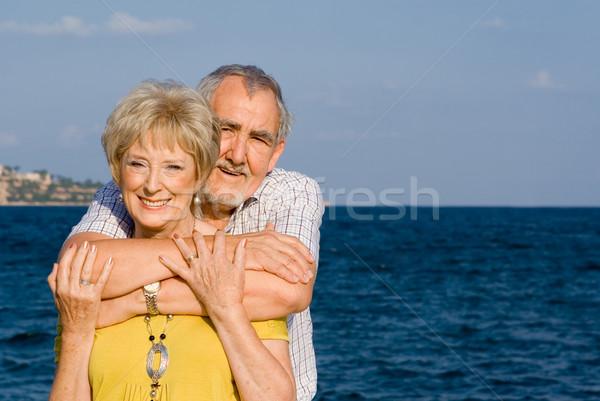 Feliz casal de idosos verão cruzeiro férias Foto stock © godfer
