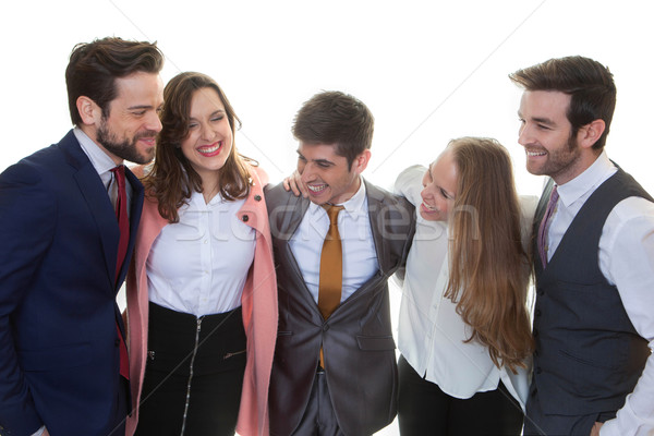 happy business team Stock photo © godfer