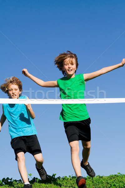 kids running race Stock photo © godfer