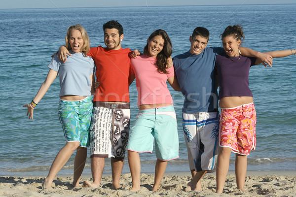 Grupo diverso estudiantes verano vacaciones de primavera vacaciones Foto stock © godfer