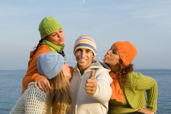 Filles heureux élèves amusement Photo stock © godfer