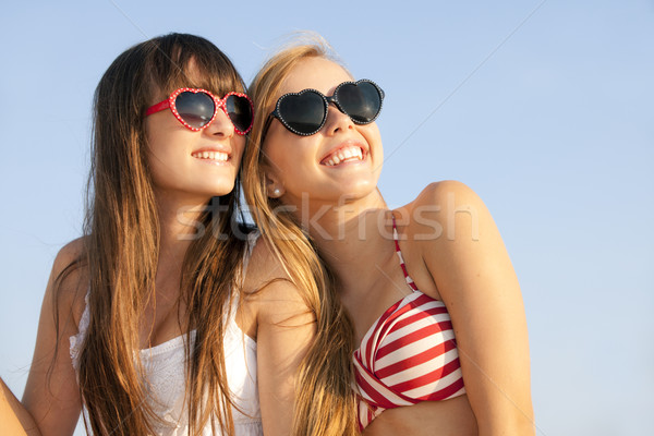 teens on summer vacation or spring break Stock photo © godfer
