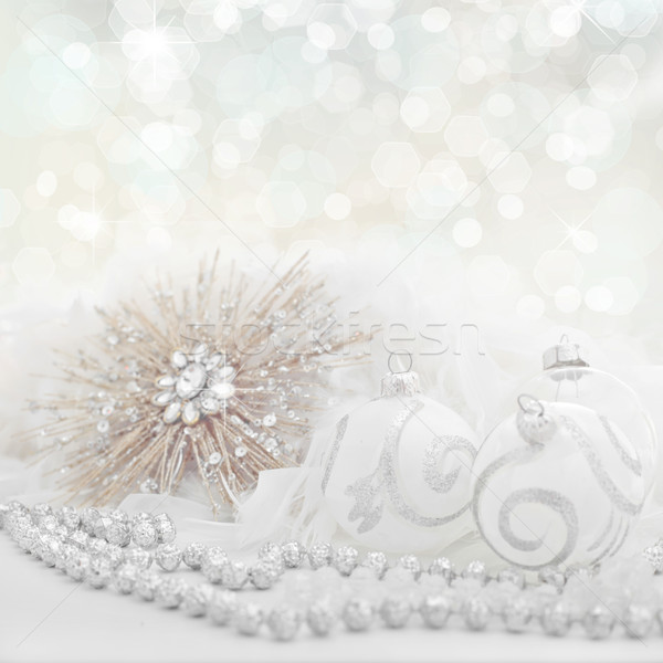 white christmas holiday background Stock photo © godfer