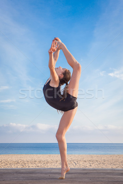 fit healthy young dancer Stock photo © godfer