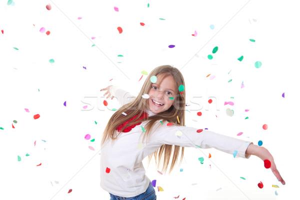 Fête enfant célébrer anniversaire nouvelle année mariage Photo stock © godfer