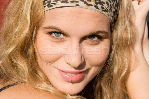 beautiful happy smiling young, woman Stock photo © godfer