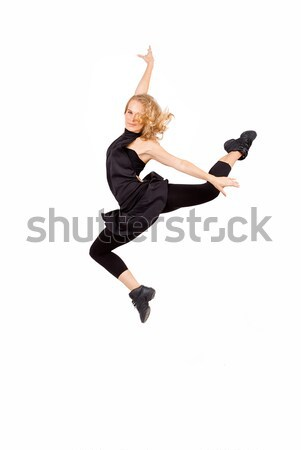 dancer jumping, or leaping Stock photo © godfer