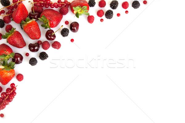 Cadre frontière bord rouge fraîches été Photo stock © godfer