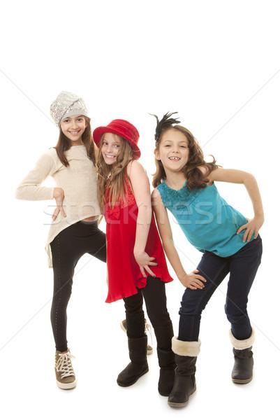 Mode enfants groupe mode enfants amis Photo stock © godfer