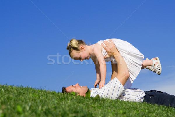 Père enfant jouer famille enfants amour Photo stock © godfer