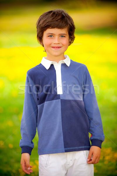 Kid sourire heureux Nice enfants espace Photo stock © godfer
